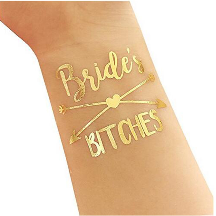 Bachelorette Party Flash Tattoos Hen party Bride Team Temporary Tattoo For Women