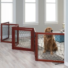 Latch door wood and metal folding dog pen