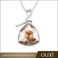OUXI Wholesale Silver Pendant Necklace Jewelry With Crystal Stone