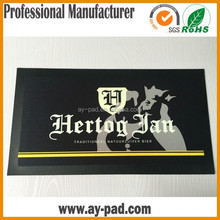 AY Black Draft Beer Counter Accessories Beer Anti Slip Rubber Mat With Black Border, Trade Assurance Bar Runner Manufacturer