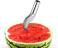 Watermelon Slicer Tongs and Server Corer - Easy to Use, Soft Grip, High Quality Stainless Steel