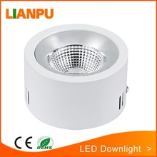 120mm diameter COB 12W down light type surface mounted led panel light