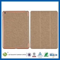 OEM 2014 hot selling folio folding pu leather stand case cover for new ipad 5