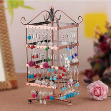 Jewelry Rack Can Be Rotated Four-Story Princess Earrings Frame Round Display