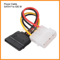 HDD Sata to IDE Power Cable 15 Pin SATA Female to Molex IDE 4 Pin Male Adapter Extension Hard Drive Power Supply Cable