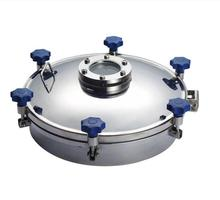 Hygienic tank manhole cover round manway for dairy beverage processing