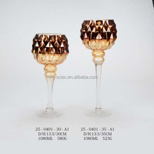 metalic stem wine glass/ stem glass goblet / wine glass