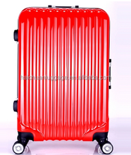 ABS+PC aluminum frame luggage 360-degree spinning wheel long distance travelling luggage