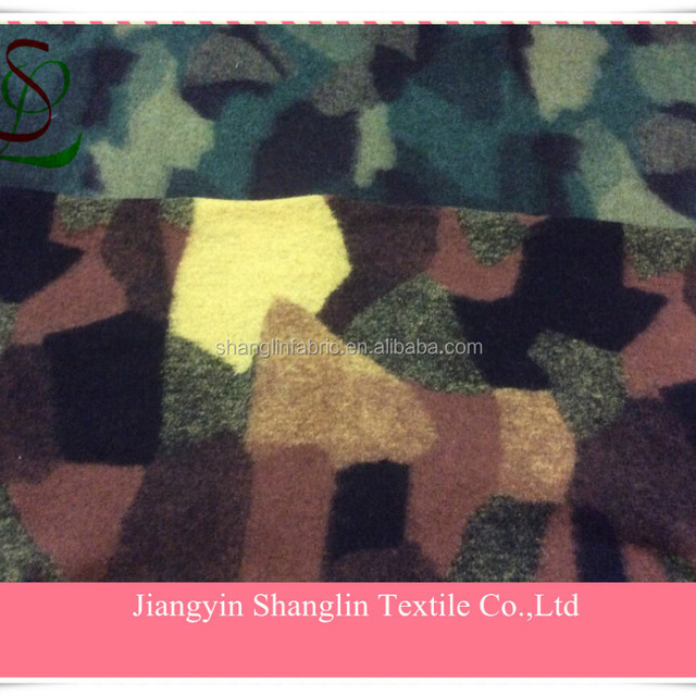 Fashion Contrast color Camouflage Jacquard wool knit fabric for winter women coats