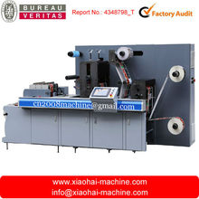 Rotary die cutting machine for label