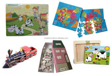 customized die cut paper jigsaw puzzle game printing manufacturer