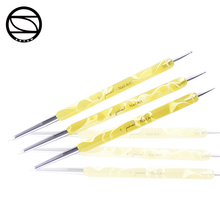 2018 Cheap double ends 3pcs set beauty nail art pen dotting tools