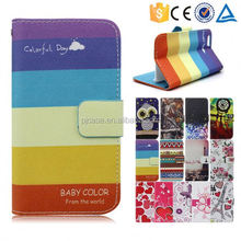 Color printed pu leather wallet case stand cover for zte blade Q LUX flip cover, for zte blade Q LUX flip cover with card slots