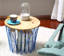 Storage type and fashion design metal wire coffee table and welded wire mesh metal basket for sale