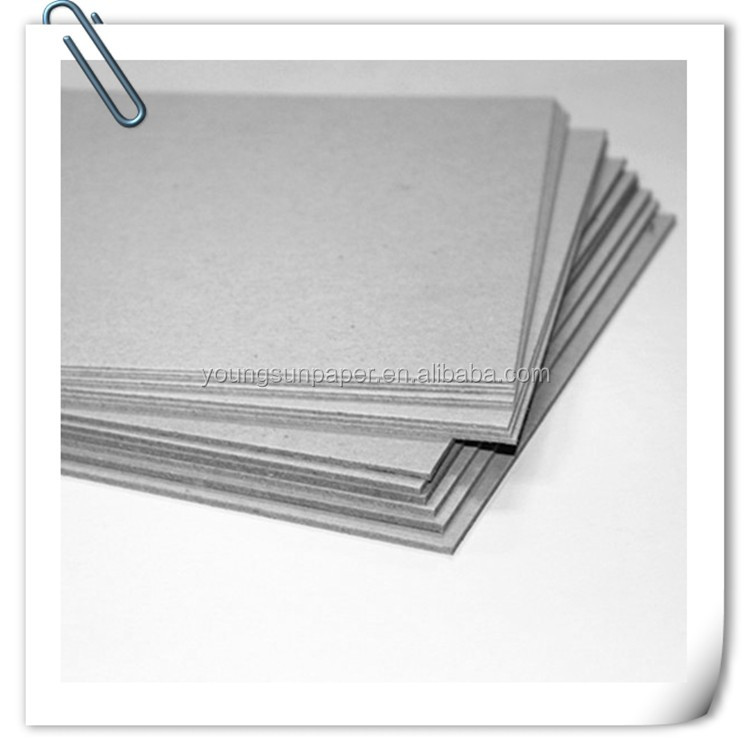 1mm 2mm 3mm mm and thickness gsm board paper grey chipboard in china mamufactory