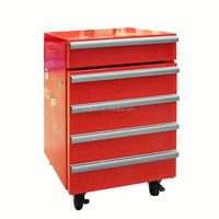 JGA Retro Style 1 Drawer 50L Mini Toolbox Refrigerator , Safe Fridge With 4 Wheels Ce Approval Table Top Deep Freezer