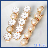 Free sample handmade beautiful model for party alloy hair clips cheap wedding jewelry sets metal hair pin