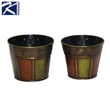 Customized hot sale high quality funny metal planter,flower pots