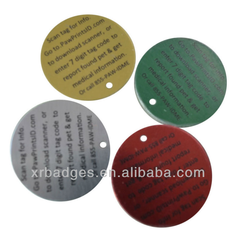 nfc metal surface tags qr code,wholesale medical alert tags