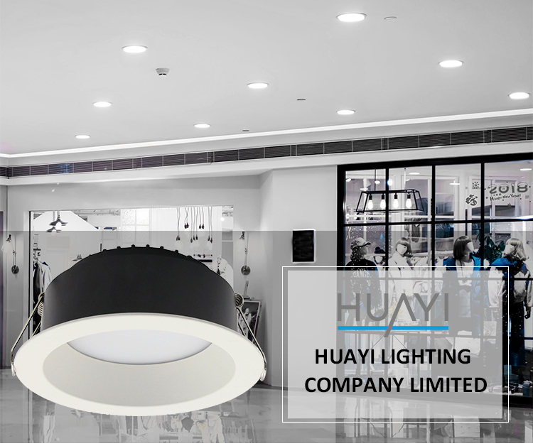 HUAYI Round Recessed Mounted Aluminum SMD LED Down Lights Indoor Design