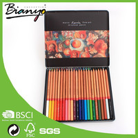 BN-3100-24TN 24pcs set marco fine art 24 colored pencils bulk/marco water color pencil set