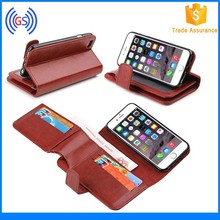 Cool Luxury TPU + PU Leather Flip Cover For Iphone 6 Case With Card Slots