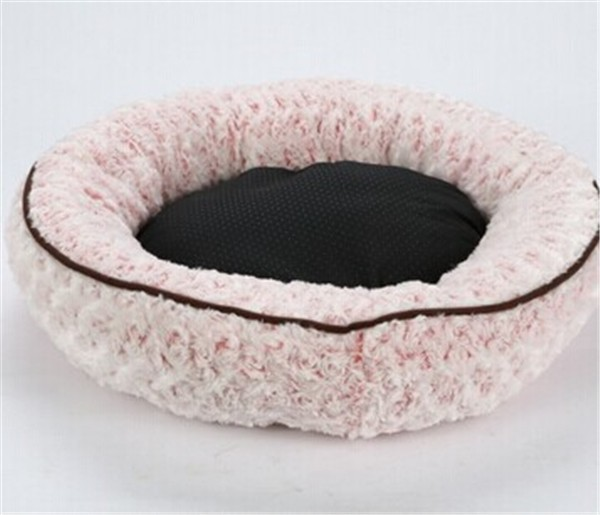 Custom high quality soft washable plush dog dry bed