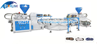 China STARLINK New Rotary PVC TPR Double Color Shoe Sole Foam Injection Moulding Machine