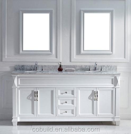 72 pouces. double lavabo vanité, salle de bains vanité