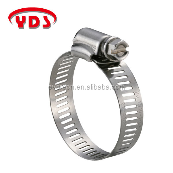 American type stainless steel pipe fittings stainless hose clip