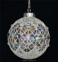 Import china products as christmas decoration, 10cm hanging glass with handpainted geometric pattern from online shoping