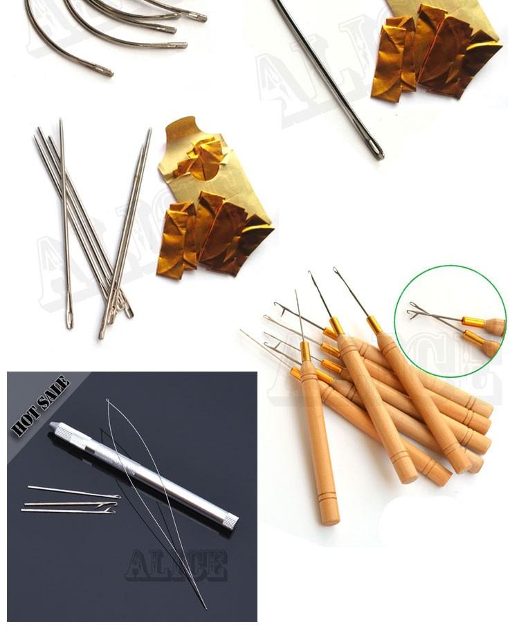 Curved Needle C Shape Needles 1 Roll Nylon Hair Weaving Thread Weave