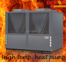54KW Large Deron air source high temperature heat pump with 80 degree hot water