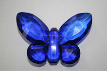 coloful in high quality crystal butterfly with different colors flying crystal butterfly with a base