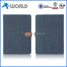 Wholesale price universal closure jeans fabric tablet case cover for iPad pro samsung tab Kindle