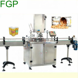 Factory automatic can sealing machinery automatic yogurt cup sealing machinery plastic cup