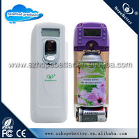 H198 LCD battery operate air freshener refillable air freshener automatic air freshener