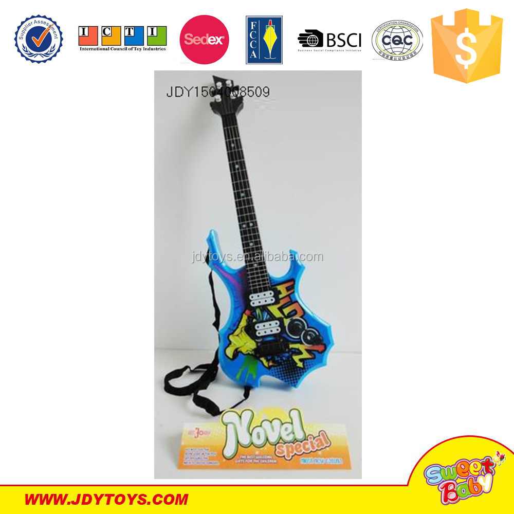 Rock and Roll Color Toy Mini Toy Plastic/Wood Craft Guitar Musical Instrument