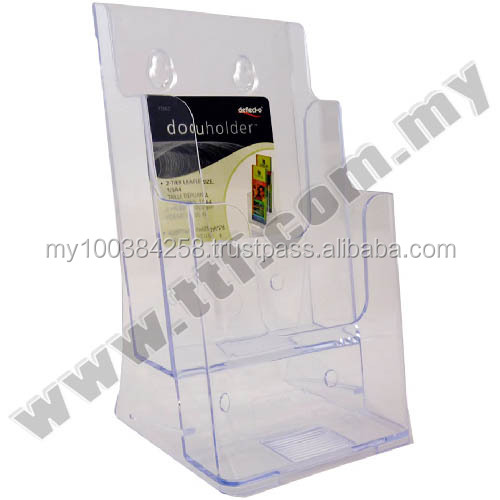 Wall Mount Brochure Holder (1/3 A4 2 Compartment), Acrylic Display, Acrylic Display Holder,Brochure Holder,Brochure Stand,Holder