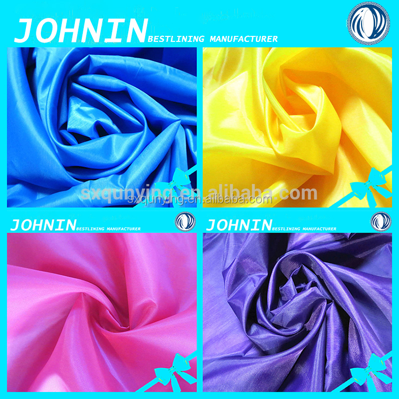 china factory best price 100% polyester textile 210t weave taffeta yarn dyed lining fabric for clothing fabric