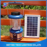 China Supplier Patented privilege Rechargeable Solar LED Lantern with 3W Aluminum Alloy solar panel