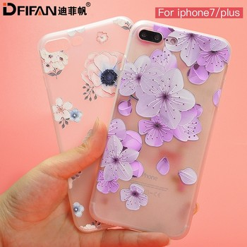 DFIFAN New Arrival cover for iphone 7 plus for women Soft Protective TPU Phone Case For iPhone 7, fancy case for iphone 7 plus