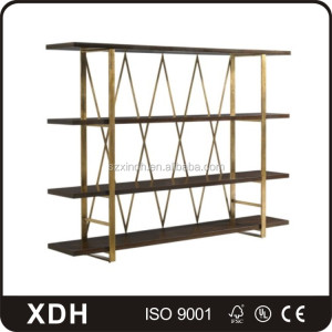 Industrial vintage wood floor furniture shelf retail store display shelf