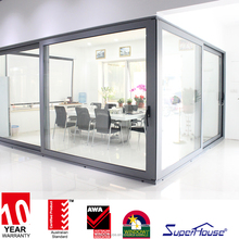 thermal break aluminium lift sliding doors with AS2047
