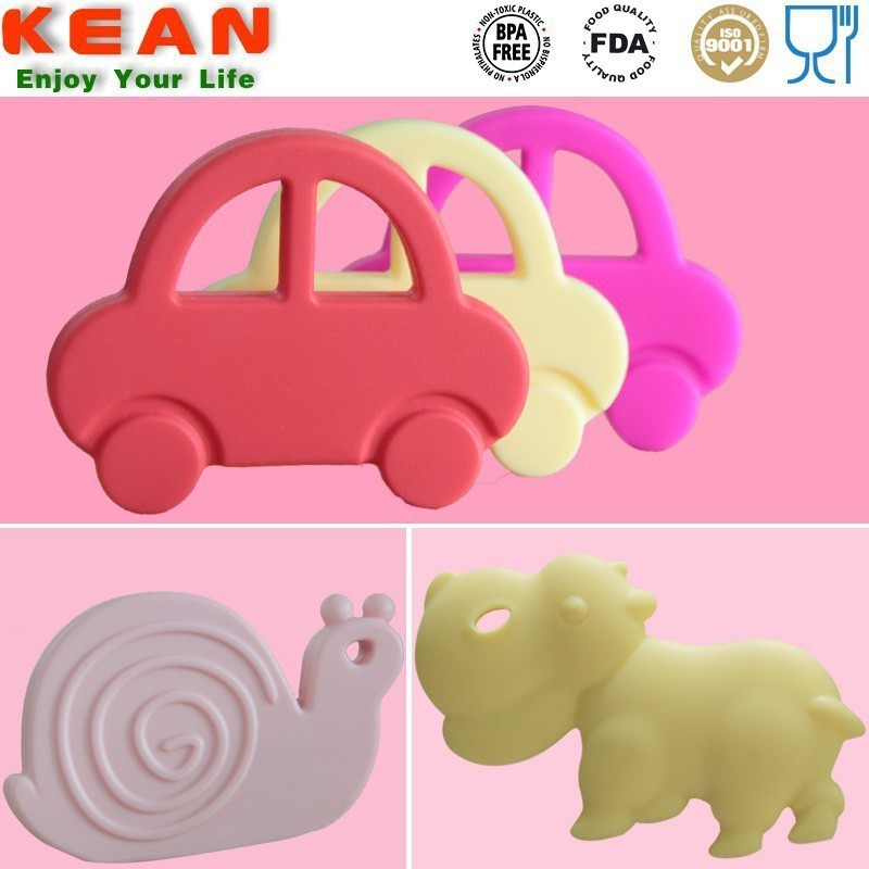 2015 Excelent Silicone Food Grade BPA Free Baby Toy Snail Teether