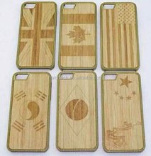 Hot sale! Handmade bamboo wood for iphone 6 cover case natural wood or bamboo+PC hard cover case