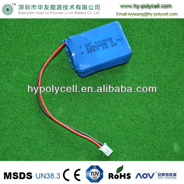 142535 1200mAh 3.7V polymer battery small battery