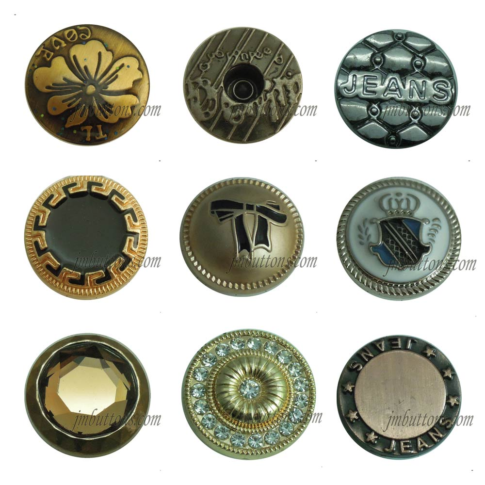 different types iron jean brand name buttons