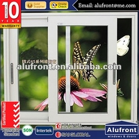 Australia AS2047 standard commercial tinted glass aluminum small sliding windows