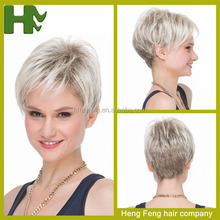 short style grey hair wig japanese hair wigs natural hair wig for woman